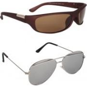 Rich Club Aviator, Sports Sunglasses(Grey, Brown)