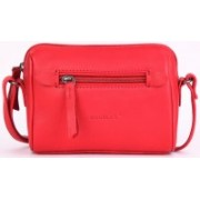 Cecille Women Red Genuine Leather Sling Bag