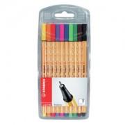 STABILO International GmbH STABILO® point 88 Tintenfeinschreiber, bunt, Fineliner ideal für feines Schreiben, Zeichnen und Skizzieren, 1 Packung = 10 Stück