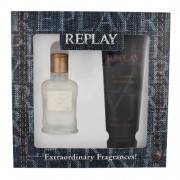 Replay Jeans Original 30Ml Edt 30 Ml + Shower Gel 100 Ml Per Uomo (Eau De Toilette)