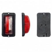Lampa gabarit auto 12V/ 24V, dreptunghiulara Rosie/ Alb , 50x95x30mm , 1 buc.