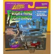 Frightning lightnings JOHNNY LIGHTNING limited edition MYSTERION red series 3 (Elvira artwork on card)