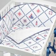 Fluffymoon Бортик в кроватку Fluffymoon Sea Journey №4 120x60 см