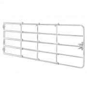 [pro.tec]® Legelő kapu 115-300 cm x 90 cm horganyzott acél - Állítható hosszúságú kerti kapu