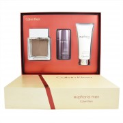 Set Euphoria 3 Pzs 100 Ml Eau De Toilette + 100 Ml After + Deo 75 Ml De Calvin Klein
