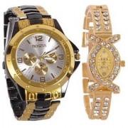 TRUE CHOICE NEW BRAND Rosra couple watches for menwomen bk/gd +x