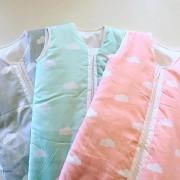 Sac de dormit bebe Snoozi Clouds Mint Blue