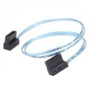 Cablu Silverstone SATA3 ultra low-profile, 30cm, Blue, CP11