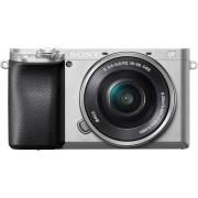 Sony »Alpha 6100 Kit mit SELP1650« Systemkamera (SELP1650, 24,2 MP, NFC, Bluetooth, WLAN (Wi-Fi), silberfarben