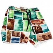 Lord Tropical Collage Boardshorts Beachwear Khaki MA011