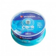 CD-R Verbatim 700 MB 52x 25 bucati/bulk in cake box