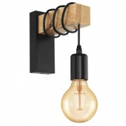 Townshend wall light with a wooden element