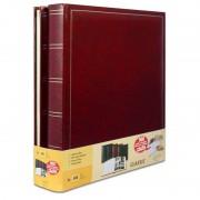 Brepols Lot de 2 albums photo classique rouge simili cuir