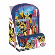Set Transformers Ghiozdan,penar,culori si planse de colorat