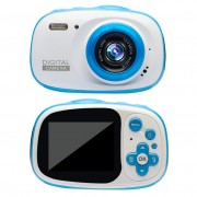 720P 6X Waterproof Kids Camera 2.0 inch HD Children Camcorder Video Recorder - Blue