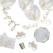 Ginger Ray Kit Deco Carton Happy New Year Or x62