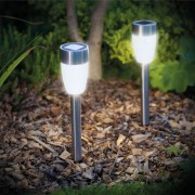 Napelemes leszúrható kültéri lámpa Talabér 37 cm hideg fehér