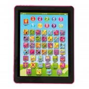 ER Tablet Pad Ordenador Para Los Niños Del Cabrito Aprendizaje Inglés Educación Enseñar Juguete Rosado