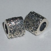 Celtic Cross Silver Triangle Bead