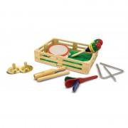 Set de instrumente muzicale din lemn, 10 piese