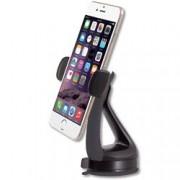 Techly Supporto da Auto per iPhone e Smartphone 3.0''-6.0'' con Ventosa