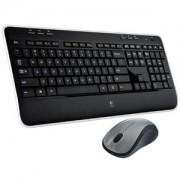 Tipkovnica + miš Logitech MK520 Wireless Combo, bežična, crna, Unifying receiver USB