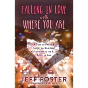 Falling in Love with Where You Are: A Year of Prose and Poetry on Radically Opening Up to the Pain and Joy of Life, Paperback/Jeff Foster