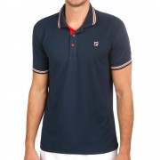 Fila Core Button Piro Polo Heren - donkerblauw