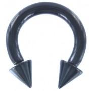 Circular Barbell Spikes Zwart 3 MM