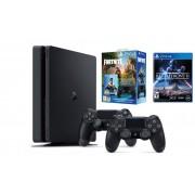 PlayStation 4 500GB F Chassis Black + DualShock kontroler + Fortnite VCH + Star Wars