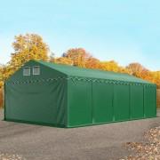 TOOLPORT Opslagtent 5x10m PVC 550 g/m² donkergroen waterdicht Tenthal, Schuurtent