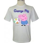 Camiseta Peppa Pig George Pig com Bola - Coleção Peppa Pig