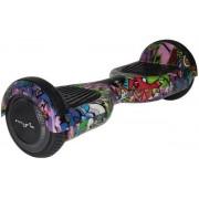 Scooter electric (hoverboard) Myria MY7002, Viteza maxima 15 Km/h, Autonomie 20 Km, Motor, 2 x 350 W, Geanta inclusa (Graffiti Mov)