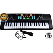 CIERN Kids Melody Musical Piano Keyboard with Mic and Charger with Recording Facility