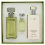 Calvin Klein Eternity 100 ml EDP + 200 ml BL + miniatura Dámská dárková sada