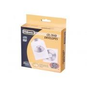 Fellowes Pack 50 sobres de papel blancos para CD FELLOWES