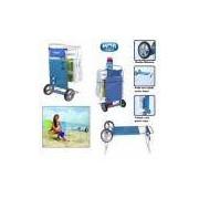 Carrinho de Praia em Aluminio e Plastico para Carregar Ate 5 Cadeiras Mor