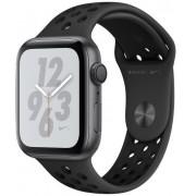 Smartwatch Apple Watch 4 Nike Plus, 44mm, LTPO OLED Retina Display, GPS, Bluetooth, Wi-Fi, Bratara Sport Antracit/Negru, Carcasa aluminiu, Rezistent la apa si praf (Space Gray)