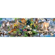 Puzzle panoramic Schmidt - Colorful Animal Kingdom, Panorama, 1.000 piese (58384)