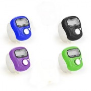 4 Pcs. MINI HAND TALLY COUNTER FINGER RING DIGITAL ELECTRONIC HEAD COUNT JAPA COUNTER (Multicolor)