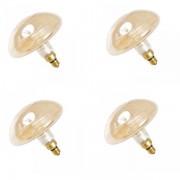 Luci Da Esterno Kit 4 Lampadine LED a Filamento Curvo 5W Dorate, tipo Fungo, passo E27