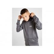 Rascal Rascal Full Zip Woven Poly Hoodie Junior - Grey/Black/Silver - Kind