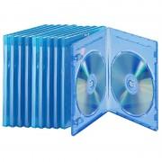 Pearl Blu-ray Soft-Hüllen blau-transparent im 10er-Pack für je 2 Discs
