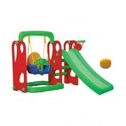 Ehomekart Playgro Super Senior Slide & Swing Combo -162cm x 162cm x 110cm with 4 Inches Baby Soft Toy Ball