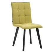 CLP Sedia sala da pranzo Miller, in tessuto, telaio color nero, verde , verde, altezza seduta