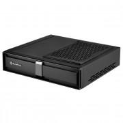 SILVERSTON hõbestone arvutikorpus SST-ML08B Milo Slim HTPC Mini-ITX, must