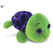 Puzzled Purple Shell Sea Turtle Big Eye Plush 6 Inch