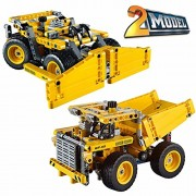 Assemble And Build By Using 362 Pcs Of Toy Bricks, Brick Separator To Design 2 Models Of Mining Trucks For Your Kids (Angel Impex)