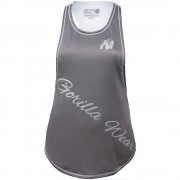 Gorilla Wear Florida Stringer Tank Top - Gray/White - S