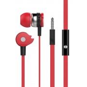 Auricolari Stereo In-Ear con Microfono e Telecomando Rosso